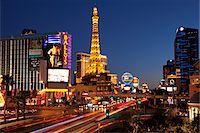 Las Vegas Strip at Night, Las Vegas, Nevada, USA Stock Photo - Premium Rights-Managednull, Code: 700-05948230