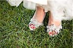 Close-Up of Bride's Shoes Stock Photo - Premium Rights-Managed, Artist: Ikonica, Code: 700-05948278