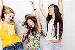 Teenage Girls Dancing and Having Fun Stock Photo - Premium Rights-Managed, Artist: ableimages, Code: 822-05948484