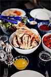 Laid Out Table with Dungeness Crab Stock Photo - Premium Rights-Managed, Artist: ableimages, Code: 822-05948605
