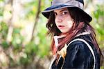 Teenage Girl Wearing Floppy Hat Stock Photo - Premium Rights-Managed, Artist: ableimages, Code: 822-05948726