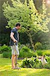 Man Gardening Stock Photo - Premium Rights-Managed, Artist: ableimages, Code: 822-05948763