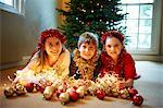 Children with Christmas decorations Stock Photo - Premium Royalty-Freenull, Code: 649-05949510