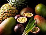 Tropical fruits nestled together Stock Photo - Premium Royalty-Free, Artist: Cultura RM, Code: 649-05950376