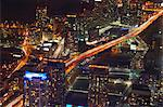 Aerial view of Toronto lit up at night Stock Photo - Premium Royalty-Free, Artist: Transtock, Code: 649-05950852