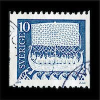 stamped - Vintage postage stamp from Sweden Stock Photo - Premium Royalty-Freenull, Code: 6106-05951975