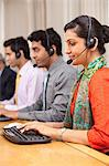 Call center agents working Stock Photo - Premium Royalty-Free, Artist: Robert Harding Images, Code: 614-05955216