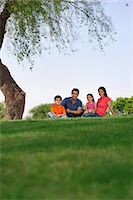 pregnant asian - Portrait of a family in a park Stock Photo - Premium Royalty-Freenull, Code: 614-05955376