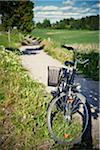 Bicycle parked on grass Stock Photo - Premium Royalty-Free, Artist: Aflo Relax, Code: 698-05957197