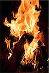 Close-up of wood fire Stock Photo - Premium Royalty-Free, Artist: ableimages, Code: 698-05957812