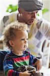 Dad with his son (2-3) Stock Photo - Premium Royalty-Free, Artist: I. Jonsson, Code: 698-05958165