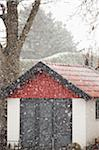 Shed in snow storm Stock Photo - Premium Royalty-Free, Artist: Zoran Milich, Code: 698-05958270