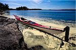 Kayak on shore Stock Photo - Premium Royalty-Free, Artist: Robert Harding Images, Code: 698-05958921