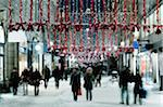Street scene with holiday decorations Stock Photo - Premium Royalty-Free, Artist: Russell Monk, Code: 698-05959452