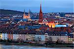 Old Town with cathedral and Old Main Bridge, Wurzburg, Franconia, Bavaria, Germany, Europe Stock Photo - Premium Rights-Managed, Artist: Robert Harding Images, Code: 841-05959929