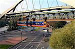 Overhead railway, Wuppertal, North Rhine-Westphalia, Germany, Europe Stock Photo - Premium Rights-Managed, Artist: Robert Harding Images, Code: 841-05959941