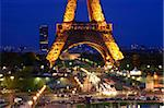 Eiffel Tower at night, Paris, France, Europe Stock Photo - Premium Rights-Managed, Artist: Robert Harding Images, Code: 841-05959974