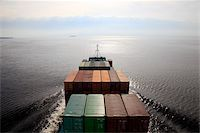ships at sea - Container ship, Baltic Sea, Sweden, Scandinavia, Europe Stock Photo - Premium Rights-Managednull, Code: 841-05959995