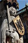 Statue of Roland, market square, UNESCO World Heritage Site, Bremen, Germany, Europe Stock Photo - Premium Rights-Managed, Artist: Robert Harding Images, Code: 841-05960079