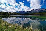Herbert Lake and Bow Range, Banff National Park, UNESCO World Heritage Site, Alberta, Rocky Mountains, Canada, North America