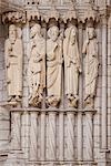 Medieval carvings of Old Testament figures including Abraham with Isaac, Moses and David, on North Porch, Chartres Cathedral, UNESCO World Heritage Site, Eure-et-Loir Region, France, Europe Stock Photo - Premium Rights-Managed, Artist: Robert Harding Images, Code: 841-05960488