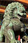 Male bronze lion, Gate of Supreme Harmony, Outer Court, Forbidden City, Beijing, China, Asia Stock Photo - Premium Rights-Managed, Artist: Robert Harding Images, Code: 841-05960664