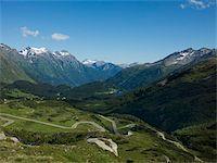 road landscape - The road to Splugen Pass, Canton Graubunden, Swiss Alps, Switzerland, Europe Stock Photo - Premium Rights-Managednull, Code: 841-05961457