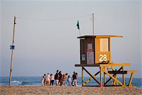 Lifeguard Tower on Newport Beach, Orange County, California, United States of America, North America Stock Photo - Premium Rights-Managednull, Code: 841-05961629