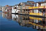 Colourful boat houses, Fisherman's Wharf, Victoria, Vancouver Island, British Columbia, Canada, North America Stock Photo - Premium Rights-Managed, Artist: Robert Harding Images, Code: 841-05961740