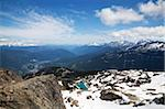 View from the top of Whistler Mountain, Whistler, British Columbia, Canada, North America Stock Photo - Premium Rights-Managed, Artist: Robert Harding Images, Code: 841-05961749