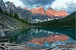 Early morning reflections in Moraine Lake, Banff National Park, UNESCO World Heritage Site, Alberta, Rocky Mountains, Canada, North America Stock Photo - Premium Rights-Managed, Artist: Robert Harding Images, Code: 841-05961798