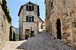 Cobbled alley in the picturesque medieval village of Lacoste, Provence, France, Europe Stock Photo - Premium Rights-Managed, Artist: Robert Harding Images, Code: 841-05961872