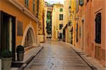 Narrow back street, St. Tropez, Var, Provence, Cote d'Azur, France, Europe Stock Photo - Premium Rights-Managed, Artist: Robert Harding Images, Code: 841-05961905