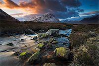 streams scenic nobody - A boulder strewn stream meanders towards Buachaille Etive Mor, Highland, Scotland, United Kingdom, Europe Stock Photo - Premium Rights-Managednull, Code: 841-05962146