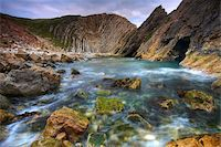 Incredible geology at Stair Hole near to Lulworth Cove on the Jurassic Coast, UNESCO World Heritage Site, Dorset, England, United Kingdom, Europe Stock Photo - Premium Rights-Managednull, Code: 841-05962222