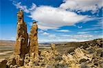 Sandstone pillars on the Patagonian Steppe, Patagonia, Argentina, South America Stock Photo - Premium Rights-Managed, Artist: Robert Harding Images, Code: 841-05962376