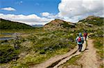 Hikers walking one of the many paths in the Chalten area of Los Glaciares National Park, UNESCO World Heritage Site, Patagonia, Argentina, South America Stock Photo - Premium Rights-Managed, Artist: Robert Harding Images, Code: 841-05962408