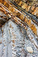 Geological rock strata at Sandymouth Bay in North Cornwall, England, United Kingdom, Europe Stock Photo - Premium Rights-Managednull, Code: 841-05962452