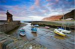 Low tide in Lynmouth Harbour, Exmoor National Park, Devon, England, United Kingdom, Europe Stock Photo - Premium Rights-Managed, Artist: Robert Harding Images, Code: 841-05962513