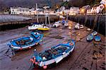 Low tide in Lynmouth Harbour in the evening, Exmoor National Park, Devon, England, United Kingdom, Europe Stock Photo - Premium Rights-Managed, Artist: Robert Harding Images, Code: 841-05962516