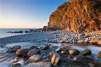 River Heddon flows out to the sea at Heddons Mouth, Exmoor National Park, Devon, England, United Kingdom, Europe Stock Photo - Premium Rights-Managednull, Code: 841-05962544