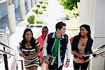 Students climbing steps together Stock Photo - Premium Royalty-Freenull, Code: 635-05971485