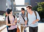 Students walking together outdoors Stock Photo - Premium Royalty-Free, Artist: Blend Images, Code: 635-05971524