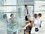Business people talking in meeting Stock Photo - Premium Royalty-Free, Artist: Blend Images, Code: 635-05971833