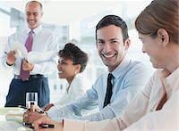 Business people talking in meeting Stock Photo - Premium Royalty-Freenull, Code: 635-05971890