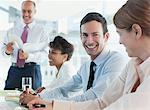 Business people talking in meeting Stock Photo - Premium Royalty-Freenull, Code: 635-05971890