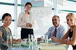 Business people sitting in meeting Stock Photo - Premium Royalty-Freenull, Code: 635-05971913