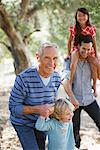 Family walking together outdoors Stock Photo - Premium Royalty-Free, Artist: Blend Images, Code: 635-05972033