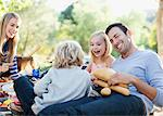 Family picnicking together on grass Stock Photo - Premium Royalty-Free, Artist: ableimages, Code: 635-05972050