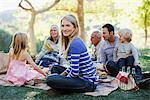 Family picnicking together on grass Stock Photo - Premium Royalty-Free, Artist: Blend Images, Code: 635-05972053